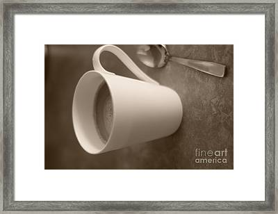 Coffee Cup Framed Print by Bobby Mandal