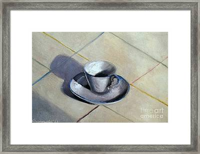 Coffee Cup Framed Print by Kostas Koutsoukanidis