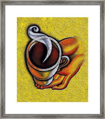 Coffee Cup  Framed Print by Leon Zernitsky