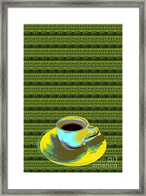 Coffee Cup Pop Art Framed Print