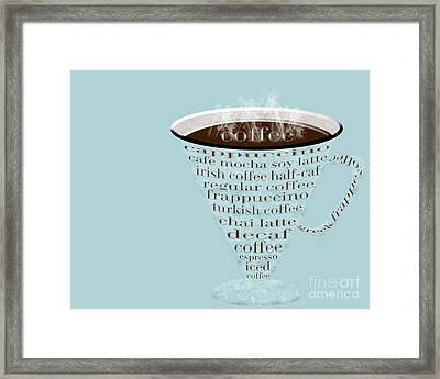 Coffee Cup The Jetsons Blue Framed Print by Andee Design