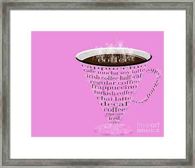 Coffee Cup The Jetsons Hot Pink Framed Print by Andee Design