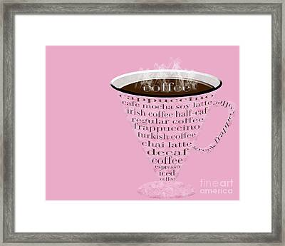 Coffee Cup The Jetsons Pink  Framed Print by Andee Design