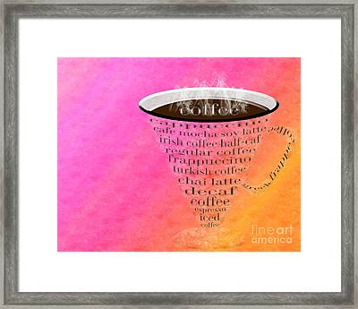 Coffee Cup The Jetsons Sorbet Framed Print by Andee Design