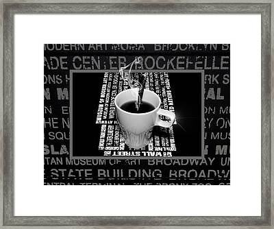 Coffee Cup With Spoon Framed Print