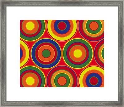 Circles Framed Print
