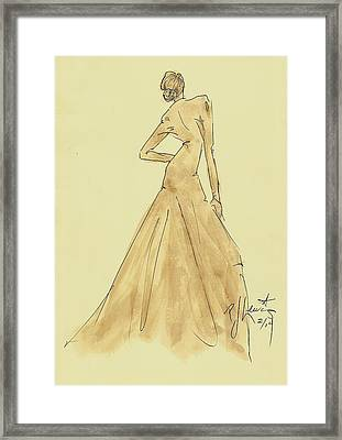Coffee Dress Framed Print by P J Lewis