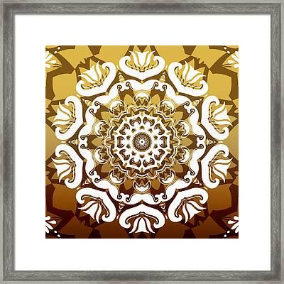 Coffee Flowers 10 Calypso Ornate Medallion Framed Print by Angelina Vick
