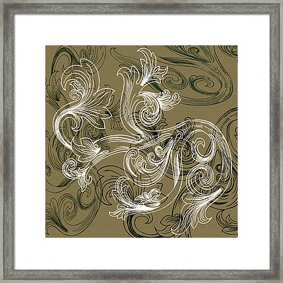 Coffee Flowers 2 Olive Framed Print by Angelina Vick
