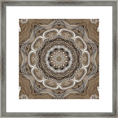 Coffee Flowers 2 Ornate Medallion Framed Print by Angelina Vick