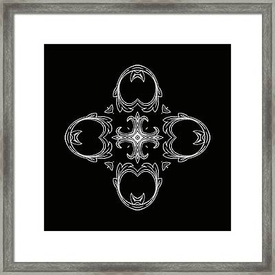Coffee Flowers 3 Bw Ornate Medallion Framed Print by Angelina Vick