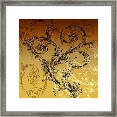 Coffee Flowers 3 Calypso Framed Print by Angelina Vick