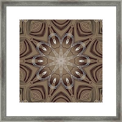 Coffee Flowers 4 Ornate Medallion Framed Print by Angelina Vick