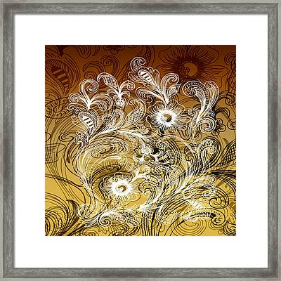 Coffee Flowers 6 Calypso Framed Print by Angelina Vick