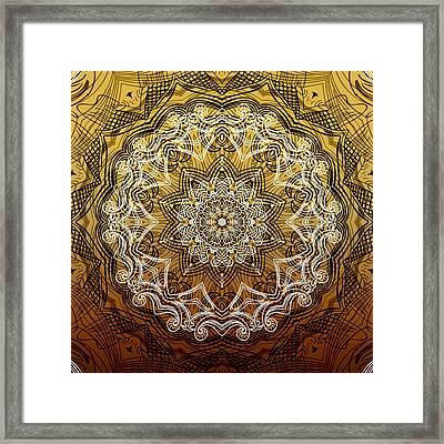 Coffee Flowers 6 Calypso Ornate Medallion Framed Print by Angelina Vick
