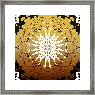 Coffee Flowers 9 Calpyso Ornate Medallion Framed Print by Angelina Vick