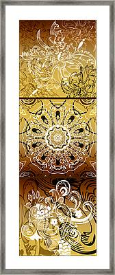 Coffee Flowers Calypso Triptych 3 Vertical Framed Print by Angelina Vick