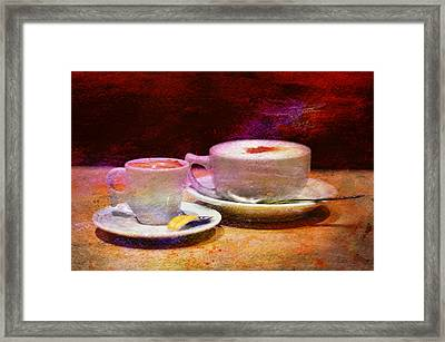 Coffee For Two Framed Print by Laura Fasulo
