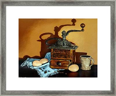 Coffee Grinder Framed Print