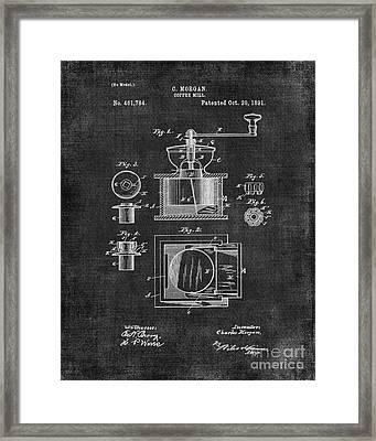 Coffee Grinder Patent Framed Print by Edit Voros