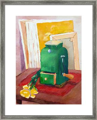 Coffee Grinder Still Life Framed Print by Lutz Baar