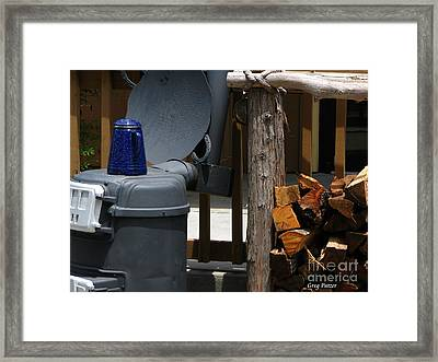 Coffee Is On Framed Print by Greg Patzer