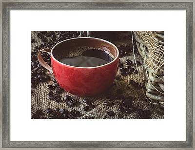 Coffee Iv Framed Print by Marco Oliveira