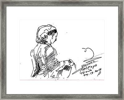 Coffee Lady Framed Print