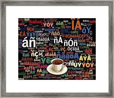 Coffee Language Framed Print by Bedros Awak