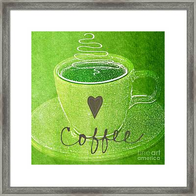Coffee Framed Print by Linda Woods