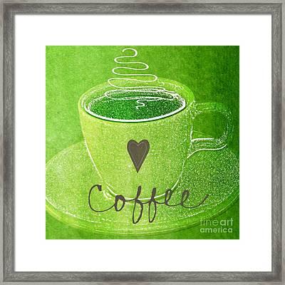 Coffee Framed Print by Linda Woods