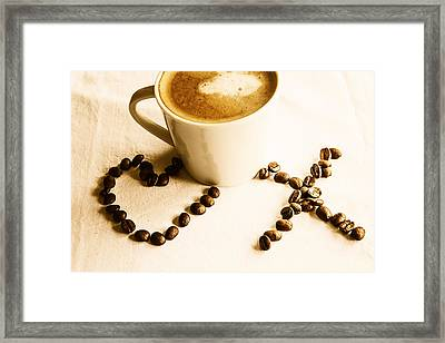 Coffee Love Framed Print by Georgia Fowler