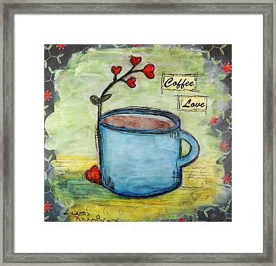 Coffee Love Framed Print by Lauretta Curtis