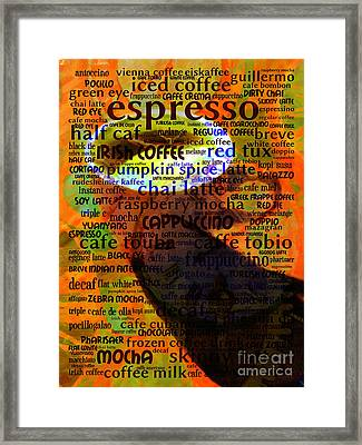 Coffee Lover 5d24472p8 Framed Print by Wingsdomain Art and Photography