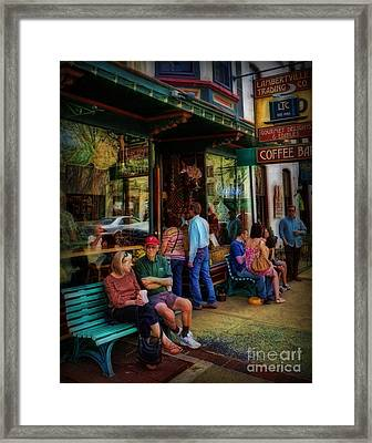 Coffee Lovers Framed Print by Lee Dos Santos