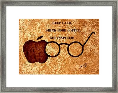 Coffee Lovers Quote 2 Framed Print