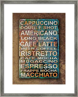 Coffee Framed Print by Mal Bray