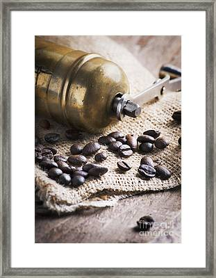 Coffee Mill Framed Print by Jelena Jovanovic