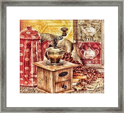 Coffee Mill Framed Print by Mo T