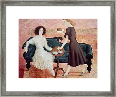 Coffee Morning Framed Print by Patricia O'Brien
