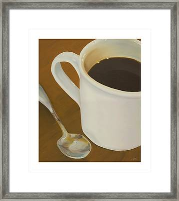 Coffee Mug And Spoon Framed Print