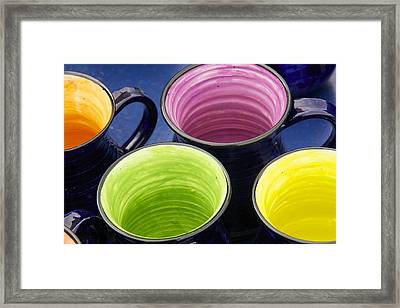 Framed Print featuring the photograph Coffee Mugs by Stuart Litoff