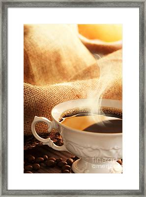 Coffee Framed Print by Mythja  Photography