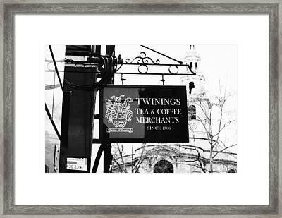 Coffee Or Tea Framed Print by Christi Kraft