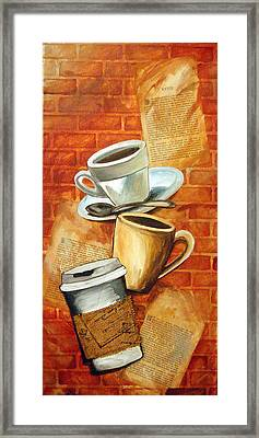 Coffee Over Shannara Framed Print by Annette Redman