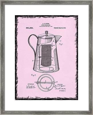 Coffee Percolator Patent 1910 Framed Print