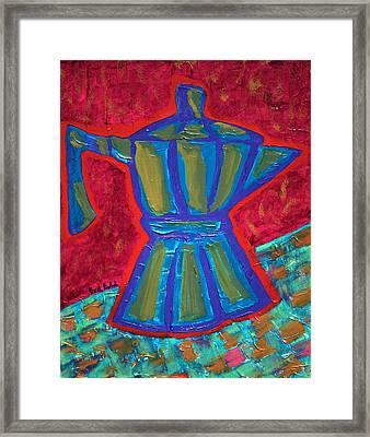 Coffee Pot  Framed Print by Oscar Penalber