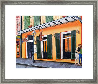 Framed Print featuring the painting Coffee Pot Restaurant-french Quarter by June Holwell
