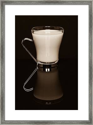 Coffee Reflected Framed Print