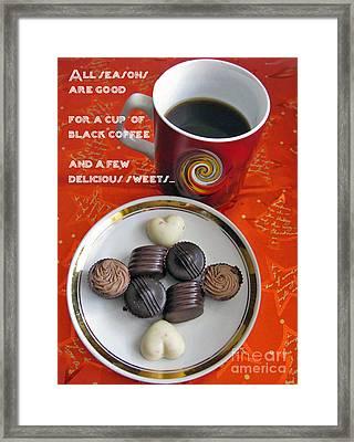Framed Print featuring the photograph Coffee Season by Ausra Huntington nee Paulauskaite